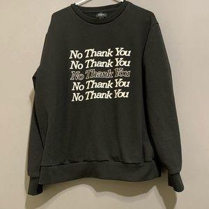 Forever 21 Men's Fun sweatshirt, size XL